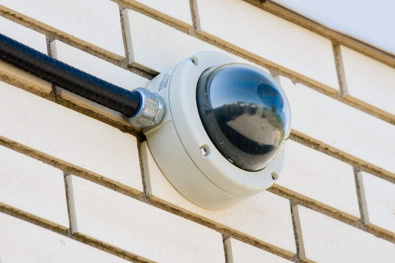 On wall security camera